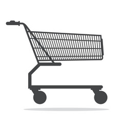 Shopping cart icon isolated on white background vector