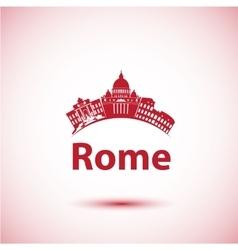 silhouette of Rome City skyline vector image