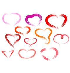simple hearts vector image vector image