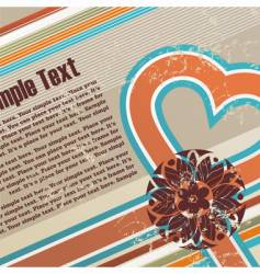 valentines retro grunge background vector image vector image