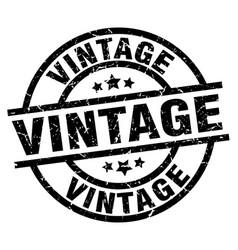 Vintage round grunge black stamp vector