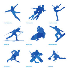winter sports icon set 2 vector image vector image
