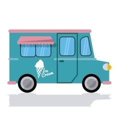 ice cream truck fast food icon graphic vector image