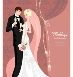 Elegant pink wedding vector