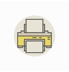 Printer colorful icon vector