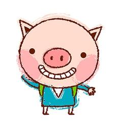 A piggy is standing vector