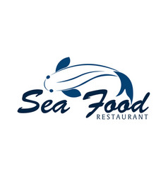 Sea food restaurant and fish logo vector