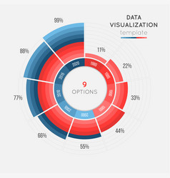 Circle chart infographic template for data vector