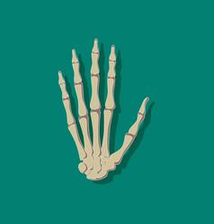 Wrist bone paper sticker on stylish background vector