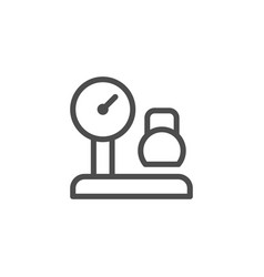 Cargo weighing line icon vector