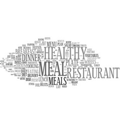 Meal word cloud concept vector