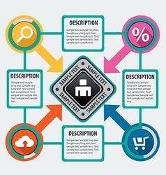 Modern infographics options4 vector image