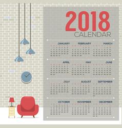 2018 cozy living room flat design printable vector