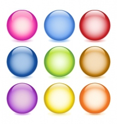 glass balls vector image