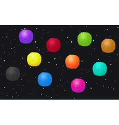 Fluffy balls in the space vector