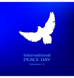 International peace day greeting card vector