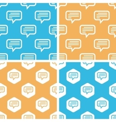 Text message pattern set colored vector