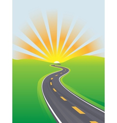 curving highway vector image