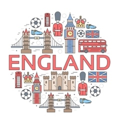Country england travel vacation guide of goods vector