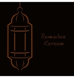Ramadan kareem light vector
