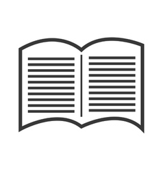 Black and white open book graphic vector