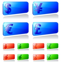 Set of labels with currency symbols vector