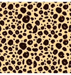 cheetah skin seamless texture leopard background vector image