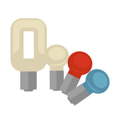 Different shaped lightbulbs vector