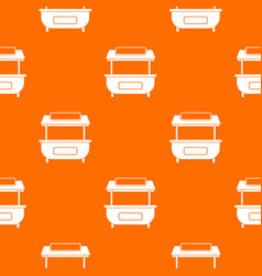 Empty counter with canopy pattern seamless vector