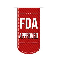 Fda approved banner design vector