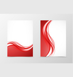 front and back elegant design flyer template vector image vector image