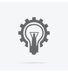 Glowing light bulb new idea vector