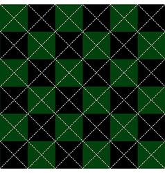 Green black chess board diamond background vector