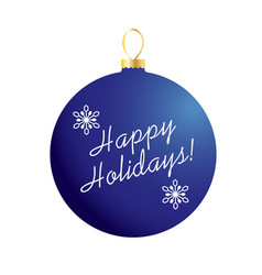 Happy holidays on blue ornament vector