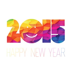 Happy new year 2015 greeting colorful vector