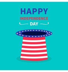 Hat with stars and strip Happy independence day vector image vector image