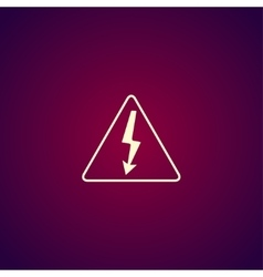 High voltage - vector image vector image