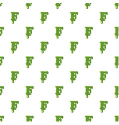 Letter f made of green slime vector
