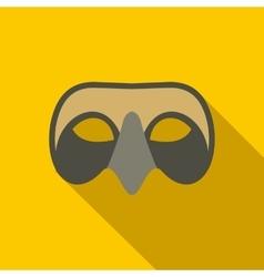 Mens venetian mask icon flat style vector