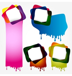Multicolorful speech bubbles with drops vector image vector image