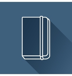 notebook icon Eps10 vector image vector image