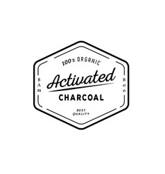 One hundred organic activated charcoal guarantee vector