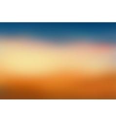 Orange and blue blurred background vector image