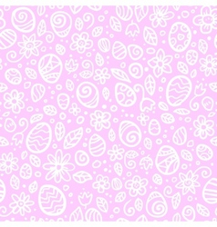Pink and white Easter eggs seamless pattern vector image vector image