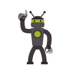 robot cartoon technology android icon vector image
