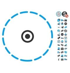 Round area icon with free bonus vector