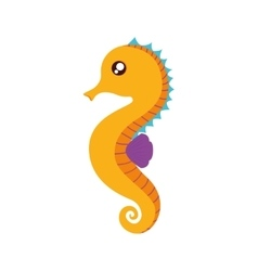 Sea horse cute animal sea little icon vector
