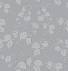 seamless pattern of strawberries vector image vector image
