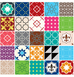 seamless tile pattern azulejos tiles vector image vector image