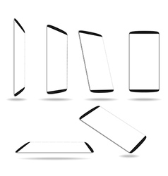 Set new smartphones different angles views vector image vector image